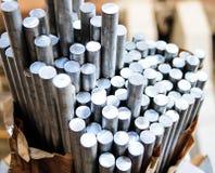 Aluminium. Aluminum rods in smelting plant Royalty Free Stock Photography
