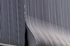 Aluminium architecture wall design pattern with light and shadow Stock Photography