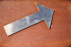 Aluminium arrow Royalty Free Stock Photos