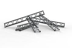 Aluminium bündelt Bauformtrio Lizenzfreies Stockbild
