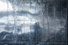 Aluminium background. This is a part of a side panel of a World War 2 B24 Liberator bomber Stock Photo