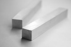 Aluminium bars. Roughly cut stock photos