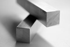 Aluminium bars. Roughly cut royalty free stock photos
