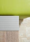 Aluminium bedside-table corner Stock Image