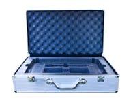 Aluminium box on white blackground Royalty Free Stock Images