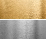 Aluminium and brass metal plates Royalty Free Stock Image