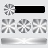 Aluminium button set Stock Photos