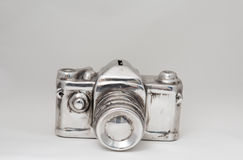 Aluminium camera royalty free stock images