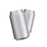 Aluminium can drink soad or beer template Stock Photos
