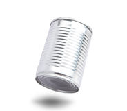 Aluminium can floating on air with shadow bottom Stock Photography
