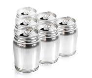 Aluminium can group Stock Image