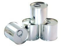 Aluminium cans Stock Photo