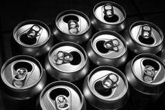 Aluminium cans Stock Image