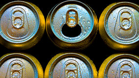 Aluminium cans Stock Photos