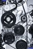 Aluminium Car Engine royalty free stock image