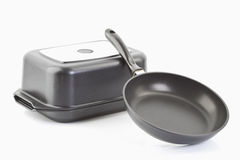 Aluminium cast frying pans Stock Photography
