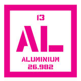 Aluminium chemical element Stock Photos