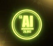 Aluminium chemisch element vector illustratie