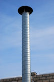 Aluminium chimney Stock Images