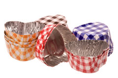 Aluminium Chocolate Cups Macro Isolated Stock Photo