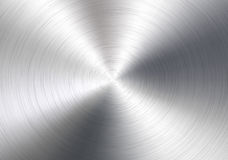 Aluminium circle background Royalty Free Stock Photography