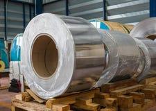 Aluminium coils Royalty Free Stock Images