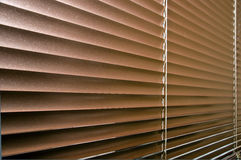 Aluminium colorized blinds on plastik window Royalty Free Stock Images