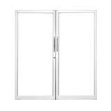 Aluminium dörr Royaltyfria Bilder