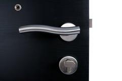 aluminium dörrhandtag Arkivfoto