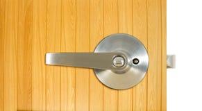 Aluminium dörrhandtag Arkivbild