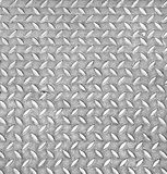 Aluminium dark list with rhombus shapes Royalty Free Stock Images