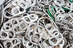 Aluminium de traction d'anneau de boîte Photographie stock