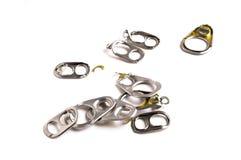 Aluminium de traction d'anneau des boîtes Image libre de droits