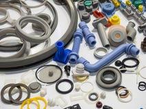 Aluminium deltillverkning för hög precision vid att gjuta och machi Arkivfoto