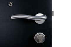 Aluminium door handle Stock Photo