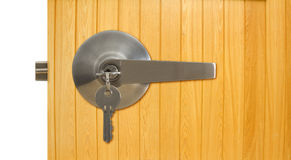 Aluminium door handle Stock Image