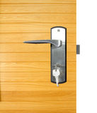 Aluminium door handle Royalty Free Stock Images