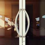 Aluminium door handle Stock Photos