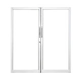 Aluminium door Royalty Free Stock Images