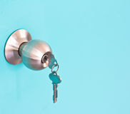 Aluminium door knob Royalty Free Stock Photography
