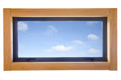 Aluminium Double Glazed Small Window Royalty Free Stock Image