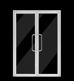 Aluminium double open door Royalty Free Stock Photography