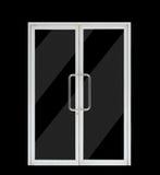 Aluminium double open door Royalty Free Stock Photography
