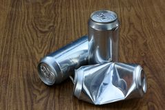 Aluminium drinks can Stock Images