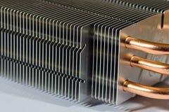 Aluminium element med kopparvärmeröret arkivfoton