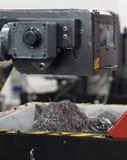 Aluminium en staalcnc scherp spaander of schroot royalty-vrije stock fotografie