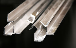 Aluminium extrusions Stock Photo