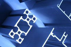Aluminium extrusions abstract  industrial Royalty Free Stock Photos