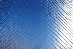 Aluminium façade als abstracte achtergrond of textuur stock afbeeldingen
