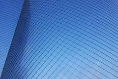 Aluminium façade als abstracte achtergrond of textuur royalty-vrije stock afbeeldingen